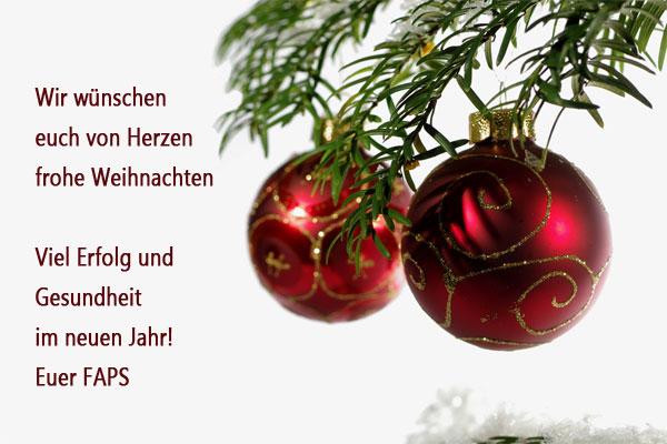 Wir Wünschen Euch Frohe Weihnachten Und Einen Guten Rutsch.Frohe Weihnachten Und Einen Guten Rutsch Ins 2015 Faps